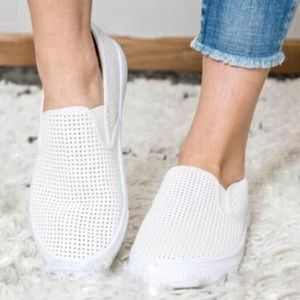 Shoes - New White Slip On Flats last 2!!